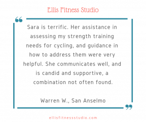 Testimonial on Sara's Strength Training for Cyclists